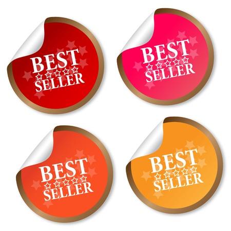 Best seller stickers Stock Vector - 14075143