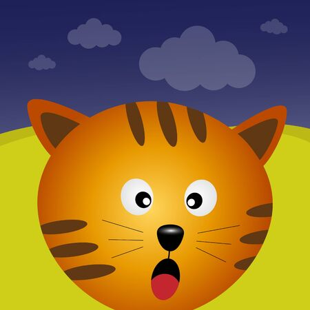 Cat in the forest Stock Vector - 14075114