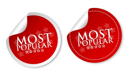 Most popular stickers Stock Vector - 14187516