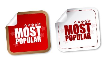 best employee: Most popular stickers Illustration