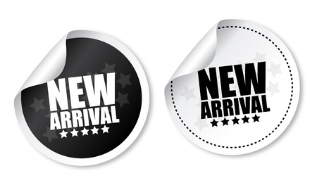 New arrival stickers Vector