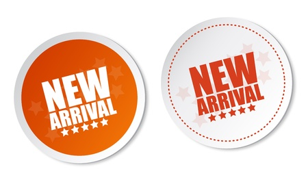 New arrival stickers Stock Vector - 14187512