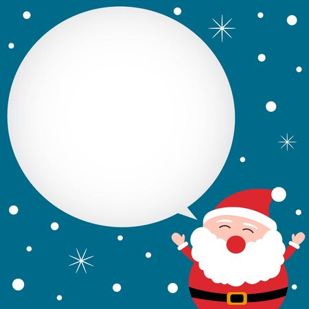 Christmas card with happy Santa Claus Vector