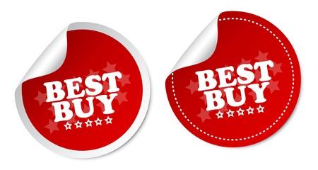 Best buy stickers Stock Vector - 14845302