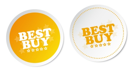 best price icon: Best buy stickers Illustration