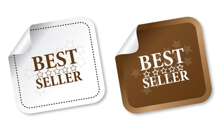 best seller: Best seller stickers Illustration
