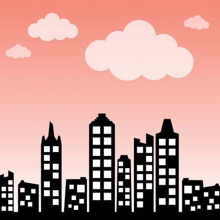 Cityscape background Stock Vector - 14981374