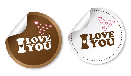 i love you: I love you stickers