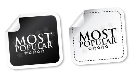 Most popular stickers Stock Vector - 15171588