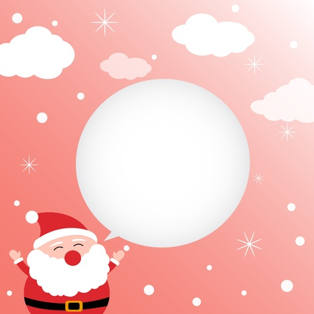 santa clause: Christmas card with happy Santa Claus