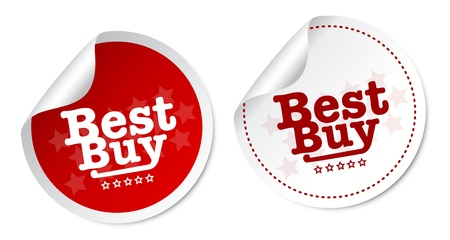 Best buy stickers Stock Vector - 15843530