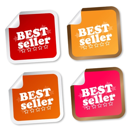 buy icon: Best seller stickers Illustration