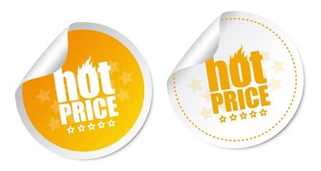 Hot price stickers Stock Vector - 16435427