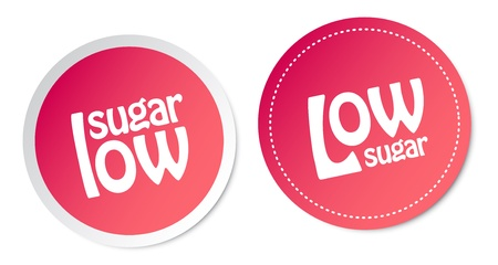 Low sugar stickers Stock Vector - 16602223