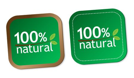 100  natural stickers Stock Vector - 16602227