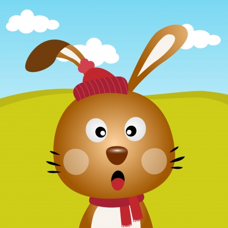 forest clipart: Rabbit in the forest