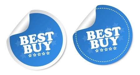 Best buy stickers Stock Vector - 16850733