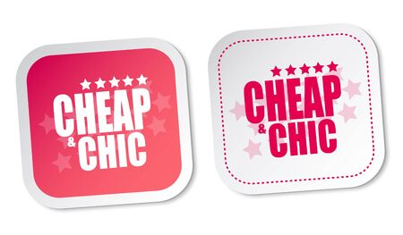 Cheap   Chic stickers Stock Vector - 16850737