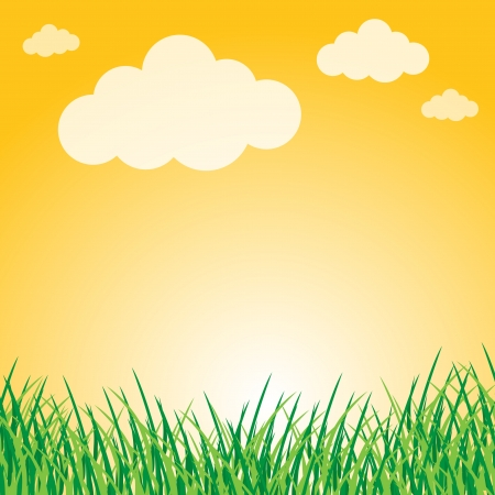 Summer landscape Stock Vector - 16988609