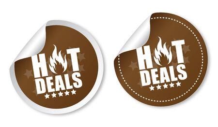 Hot deals stickers Stock Vector - 16988626