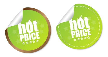 Hot price stickers Stock Vector - 16988617