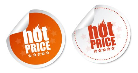 Hot price stickers Stock Vector - 16988619