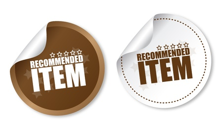 Item recommended stickers Stock Vector - 16988627