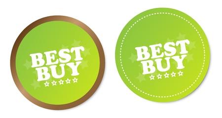 Best buy stickers Stock Vector - 17457582