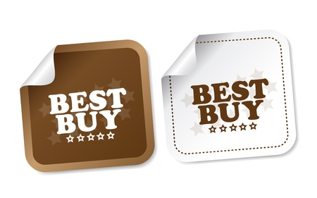 Best buy stickers Stock Vector - 17457587