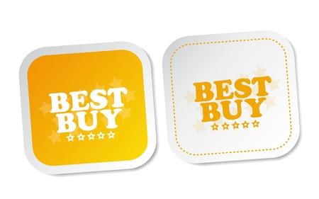 Best buy stickers Stock Vector - 17457588