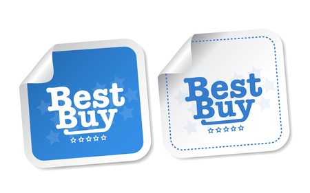 Best buy stickers Stock Vector - 17457589