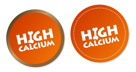 High calcium stickers Vector