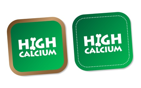 High calcium stickers Stock Vector - 17747528