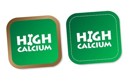 High calcium stickers Stock Vector - 17747528