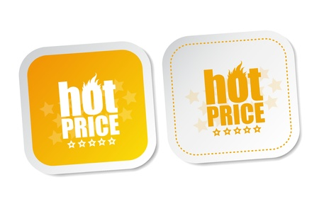 Hot price stickers Stock Vector - 17747533