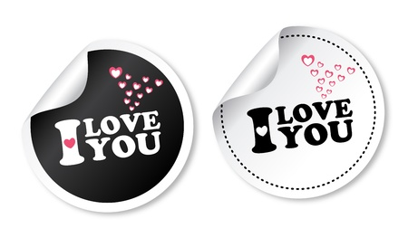 I love you stickers Stock Vector - 17747534