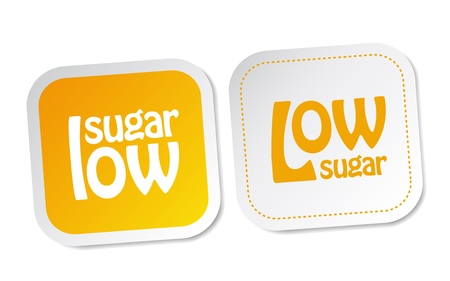 Low sugar stickers Vector