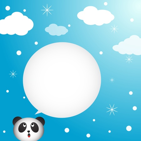 Panda speaking with a speech bubble Vector