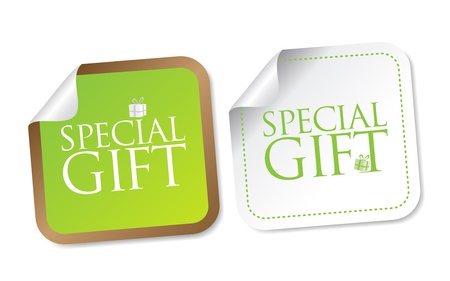 Special Gift Stickers Stock Vector - 17973232