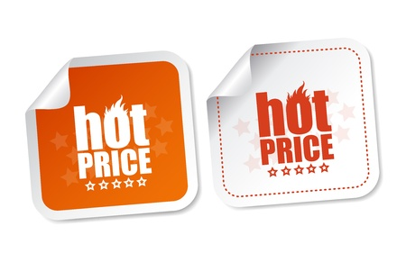 Hot price stickers Stock Vector - 18056891