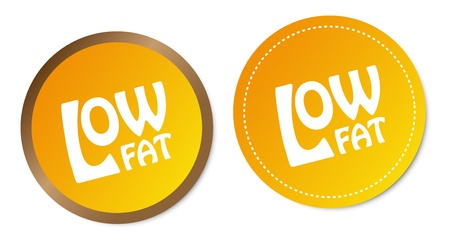 Low fat stickers Ilustrace