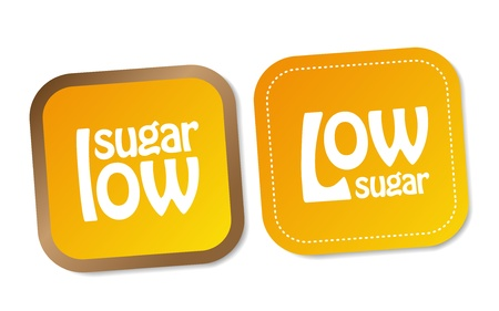 Low sugar stickers Stock Vector - 18056889