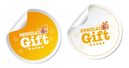 Special Gift Stickers Stock Vector - 18056895
