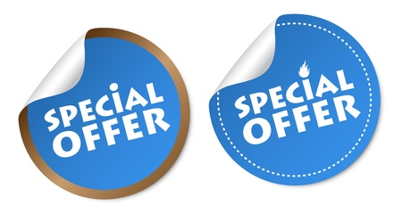 best offer: Special offer stickers Illustration