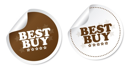 Best buy stickers Stock Vector - 18127497