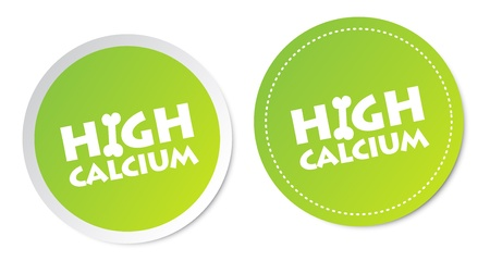 High calcium stickers Stock Vector - 18127493