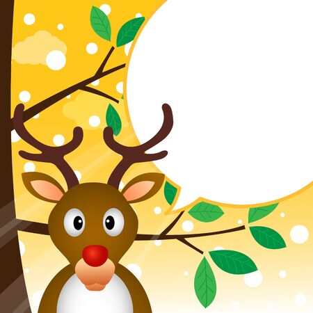 Reindeer speaking with a speech bubble Stock Vector - 18240261