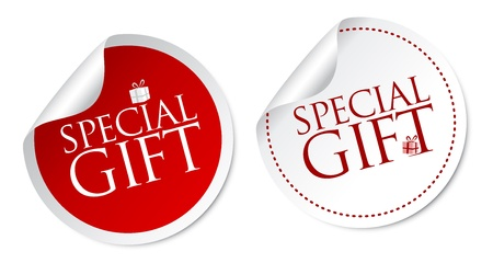 sale tag: Special Gift Stickers