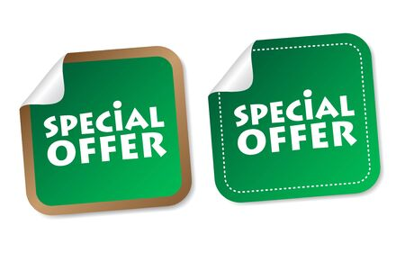 Special offer stickers Stock Vector - 18240262