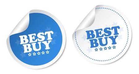 Best buy stickers Stock Vector - 18382319